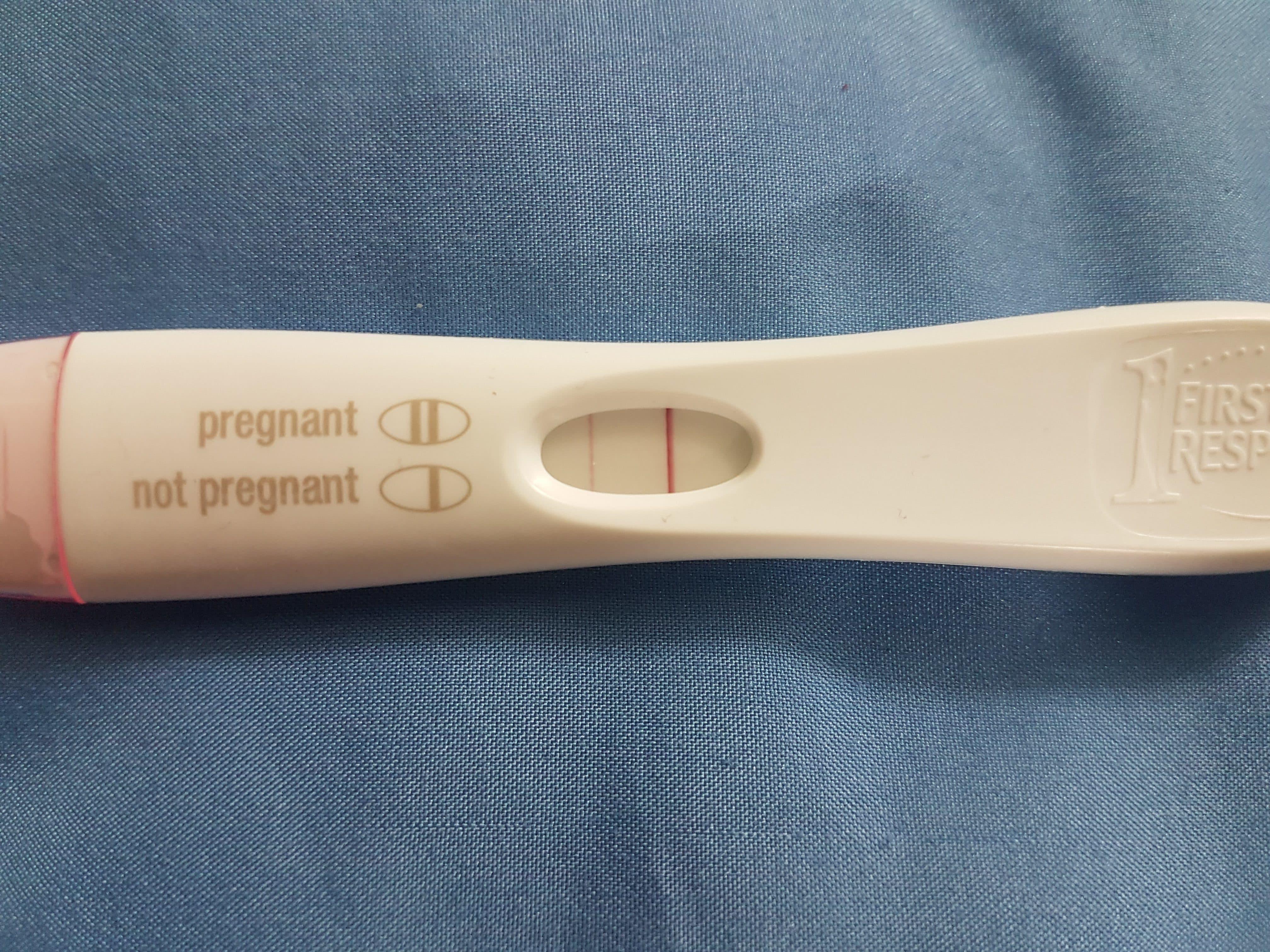 результат теста на беременность