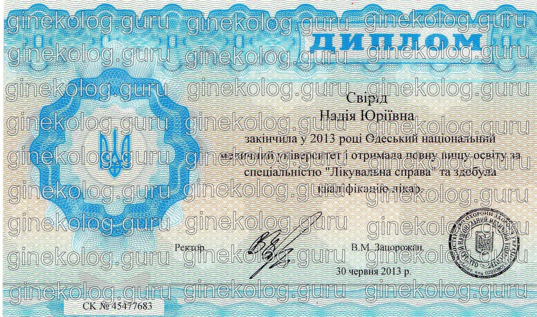 Свирид Надежда Юрьевна